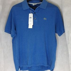 Lacoste Mens Blue Polo Shirt Size Large